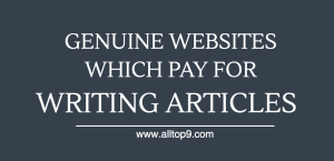 Genuine websites which pay for writing articles