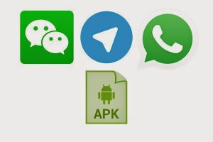 Sending files using Android apk WeChat, Telegram and WhatsApp