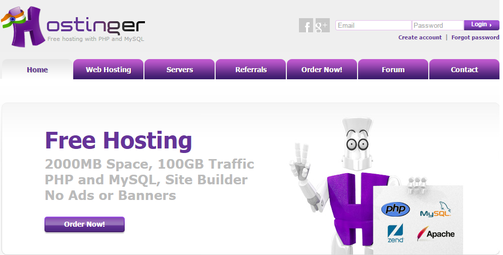 create free blog with hostinger