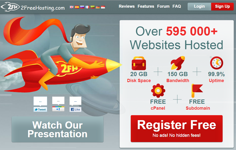 create free blog with 2 Free Hosting