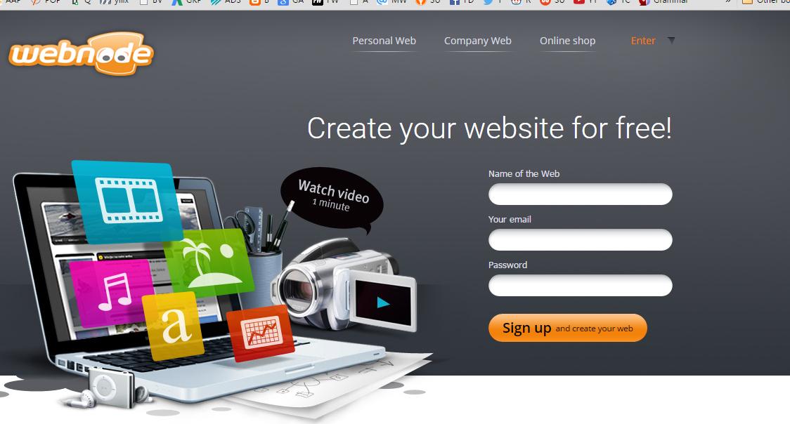 create free blog with Webnode.com