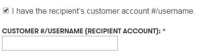 enter customer number of other account