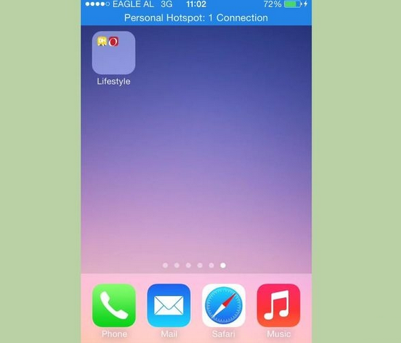 Hide apps on iPhone-Move new folder to an empty page