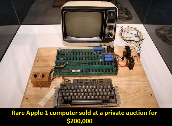 Rare first generation Apple computer sold for $200,000