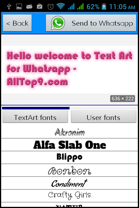 One Line Text Art 9 11 : Make custom texts on whatsapp with text art android app