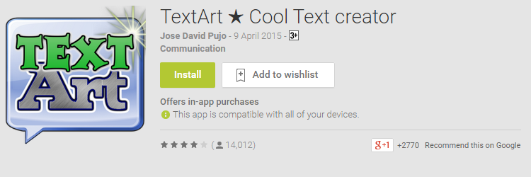 text art cool text editor