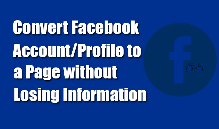 convert-facebook-account-profile-page