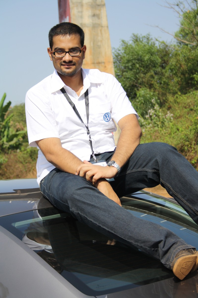 Shrawan and the VW Passat BlueMotion