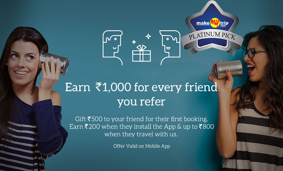 Download-makemytrip-app , Get Rs 500 wallet cash + Refer and earn Rs 200 + extra Rs 800 tricksfire