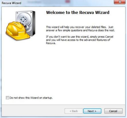 Recuva Wizard- Recover deleted files