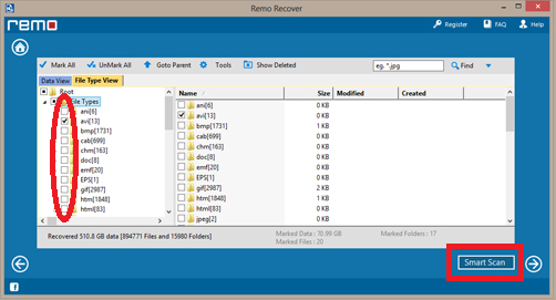 Windows 8- Recovered files list