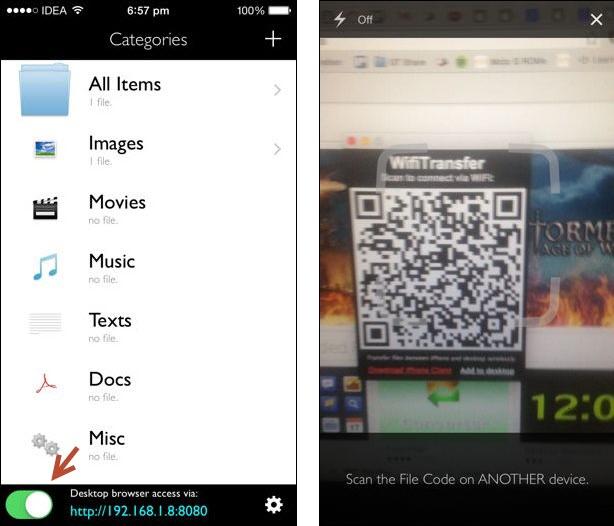 Wi-Fi File Transfer app