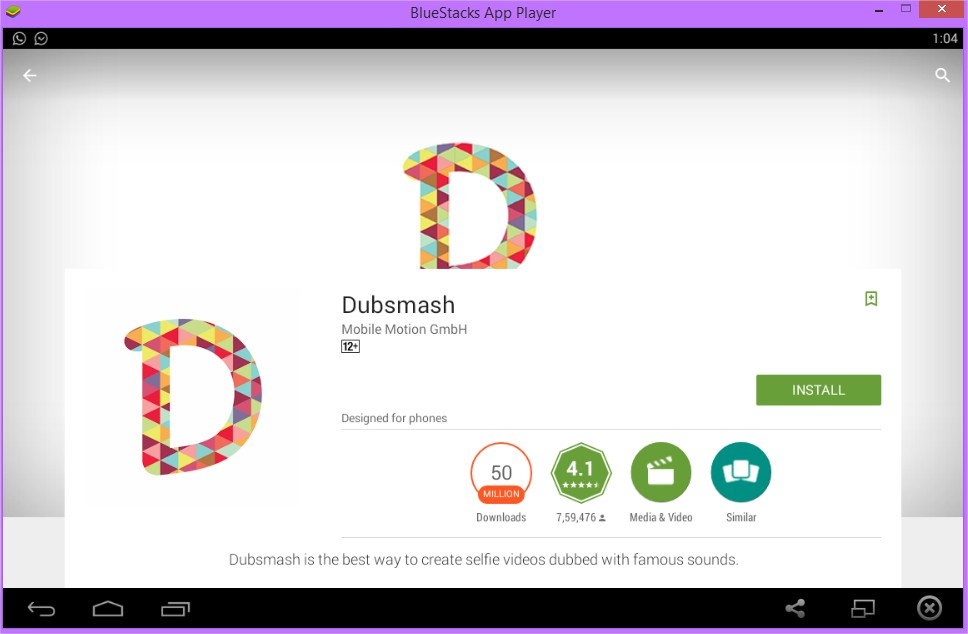 Download and Install Dubsmash For PC using Bluestacks