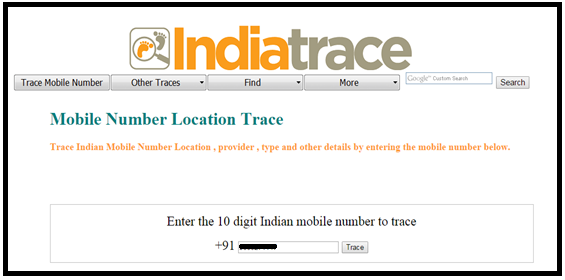 India Trace-Mobile Tracker