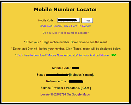 Trace Mobile Number- Mobile Number Locator