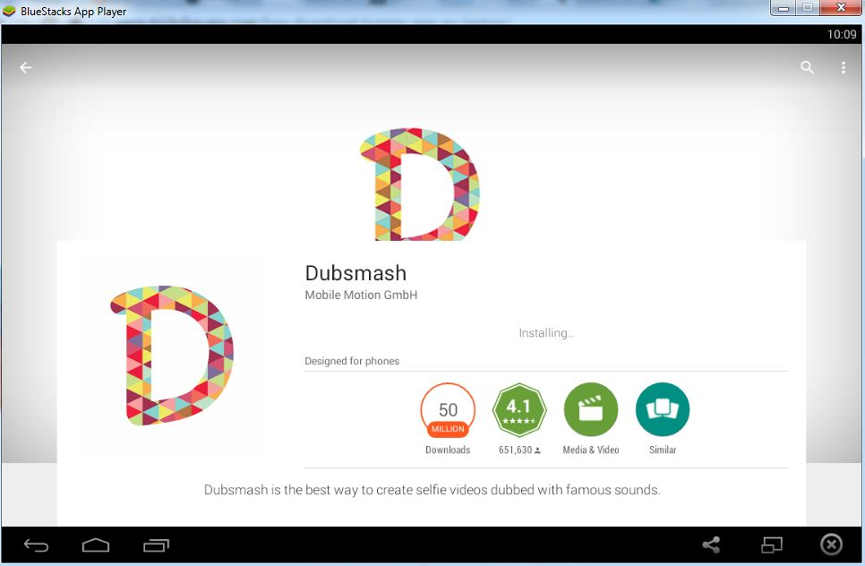 Install Dubsmash For PC using Bluestacks