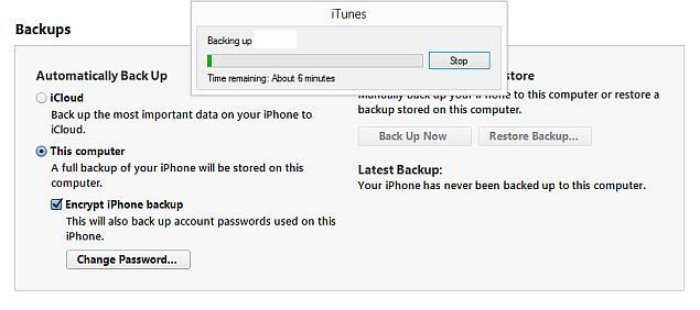 Backup iPhone or iPad with iTunes