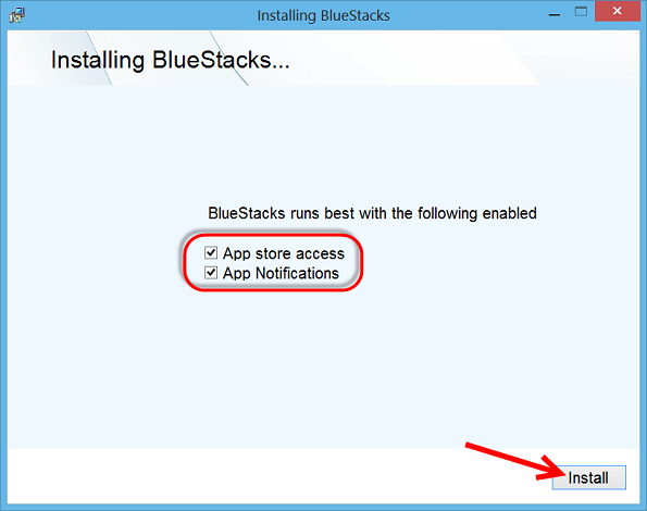 Install Bluestacks on your PC or laptop