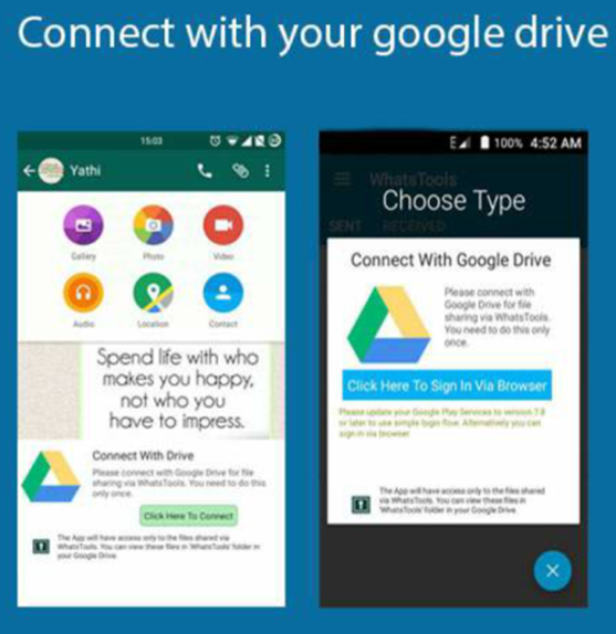 Connect Whats Tools with Google Drive