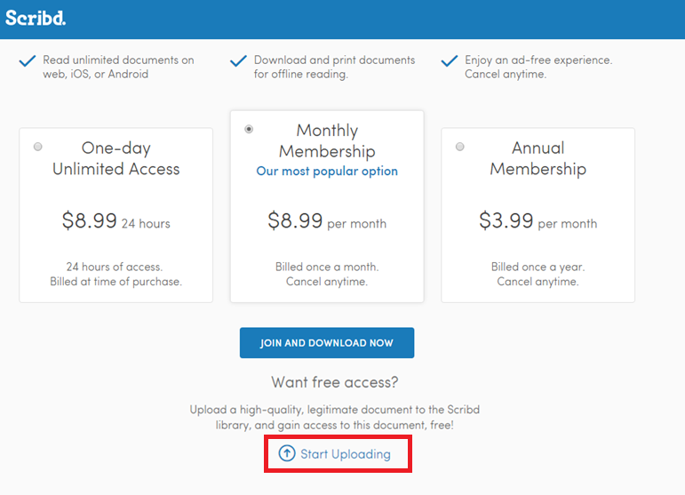 How to download files from Scribd for free