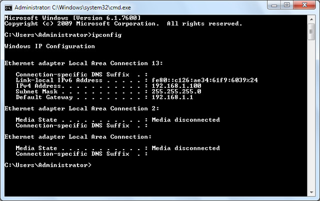 how to map network drive using command prompt