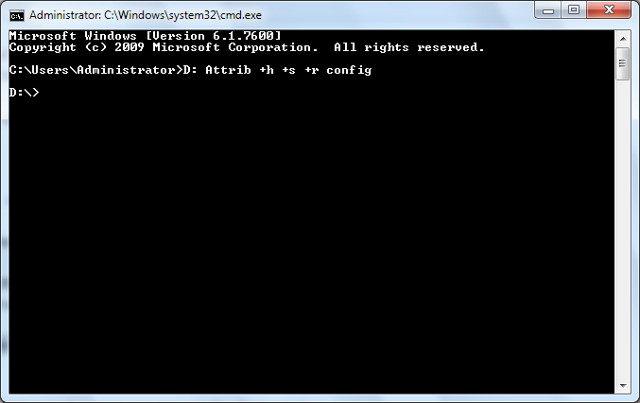 Hide Files and Folders using Command Prompt