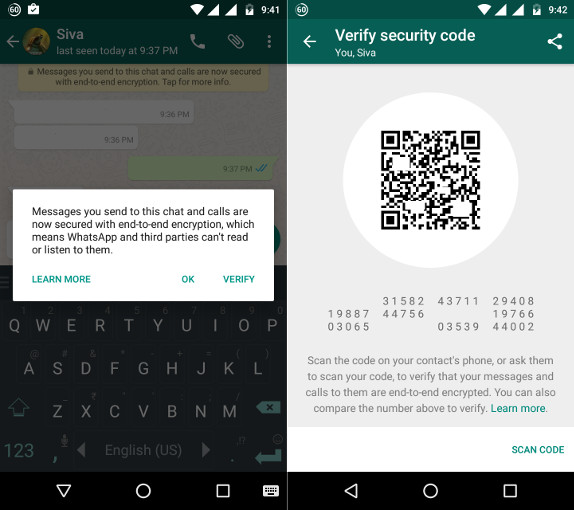 WhatsApp Security Code