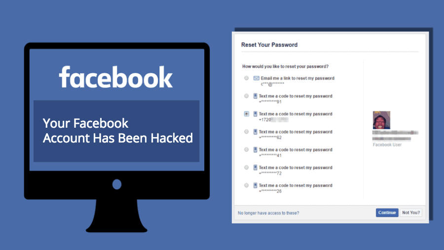 Hack a Facebook using a Phone Number