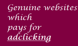 Genuine websites which pays for clicking ads
