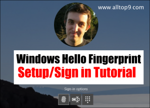 Login to Laptop/PC with Fingerprint using Windows Hello