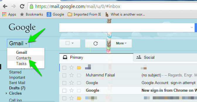 Contacts Merging - Gmail