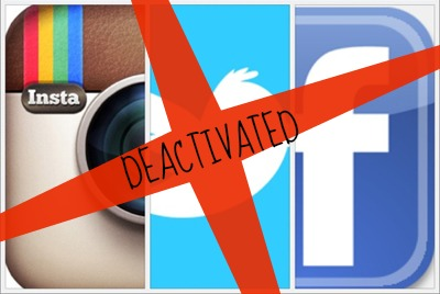 Deactivatedelete facebook gmail twitter and instagram accounts there are two options for getting rid of these social media sites they are by deleting or by deactivating the account if you delete your account ccuart Images