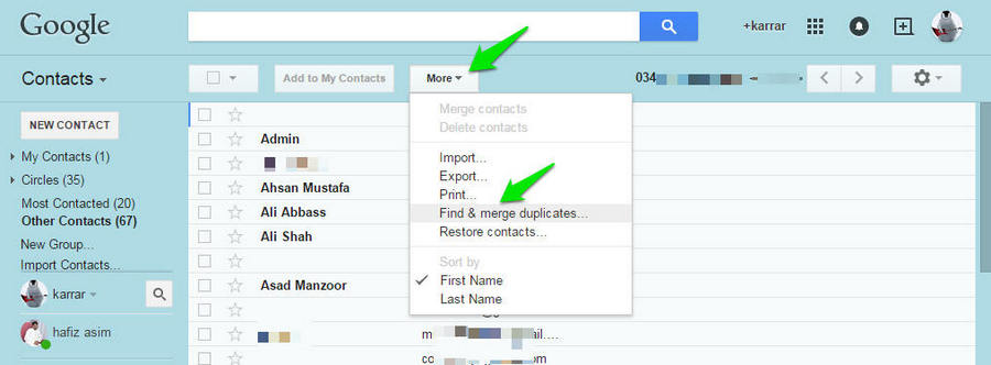 Delete-all-duplicate-contacts-through Gmail