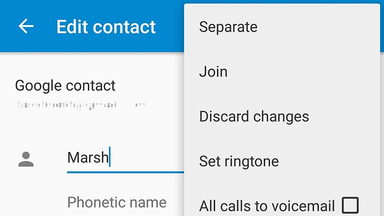 Joining Contacts in Contacts App