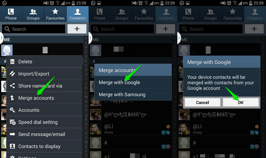 Merging Contacts in Contacts App