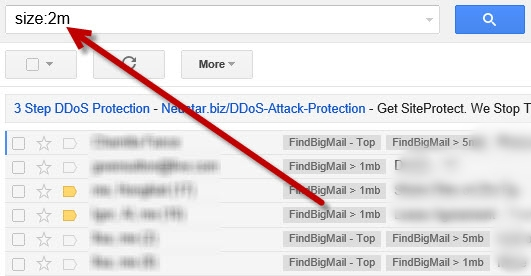 Access Big Emails in Gmail