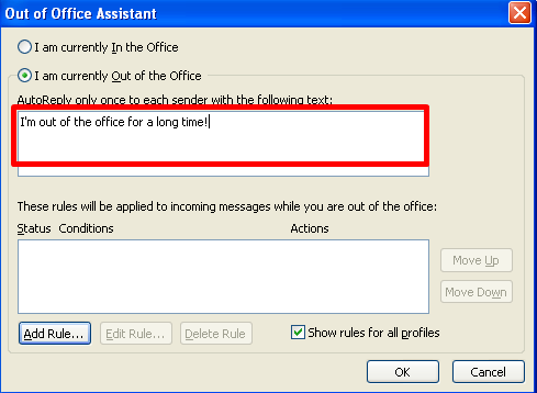 Iam Currently Out of Office 2003 (2)