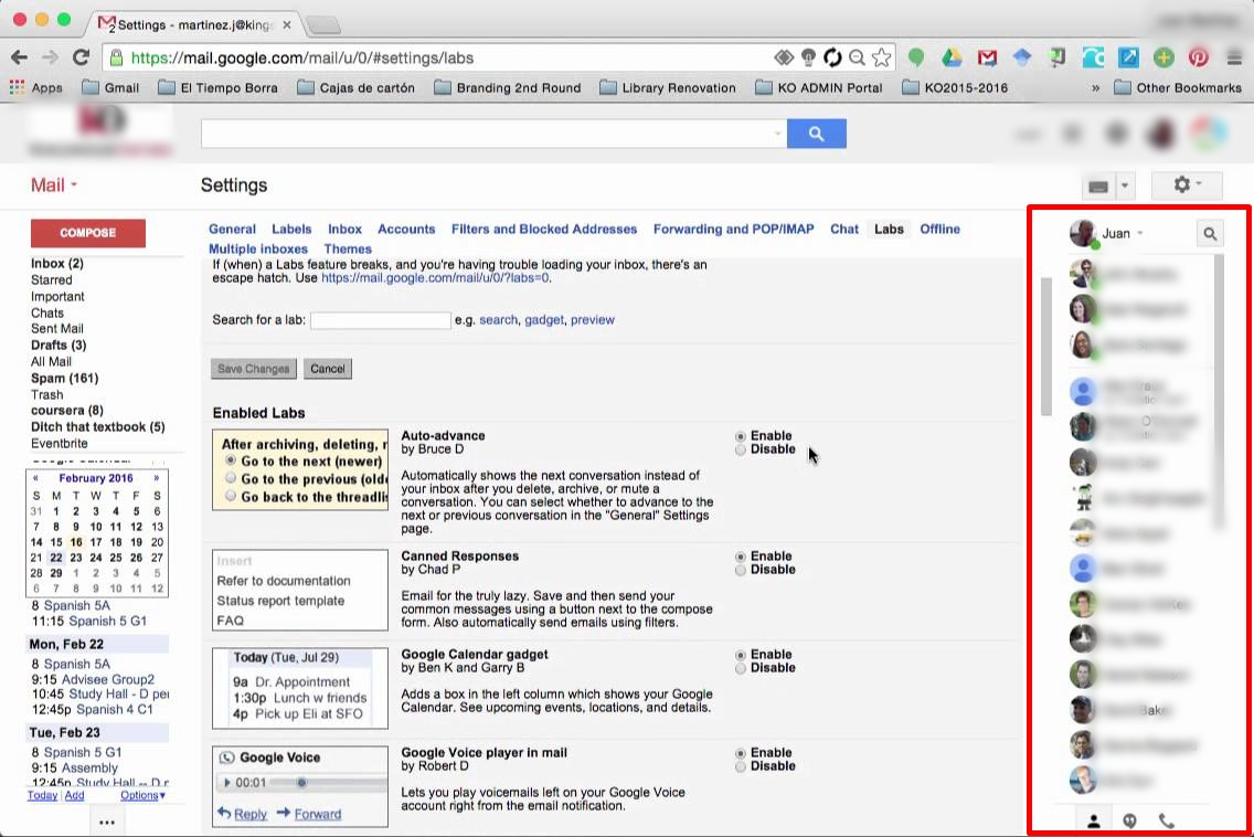 Right-Side Chat In Gmail