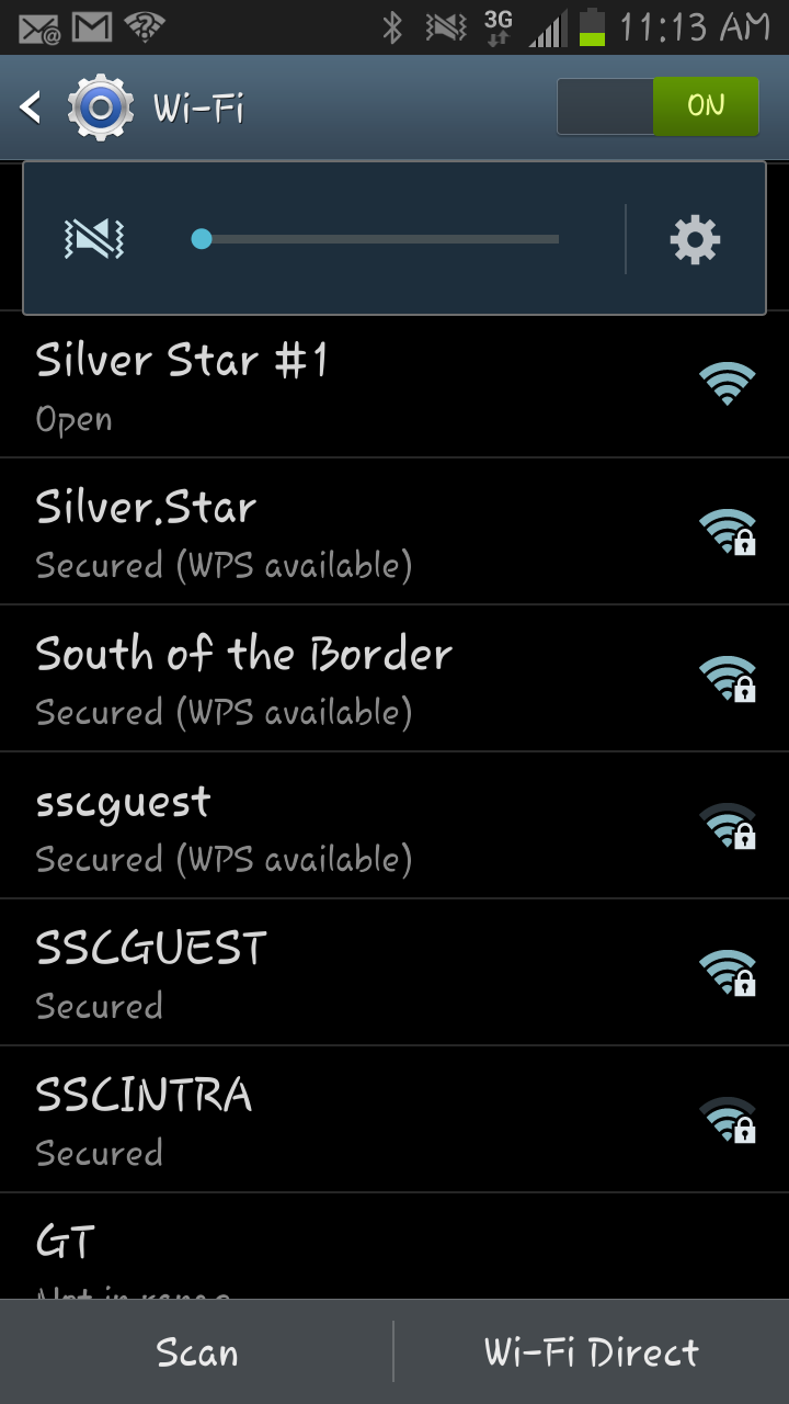 Select your Wi-Fi