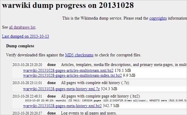 Wiki Dumps