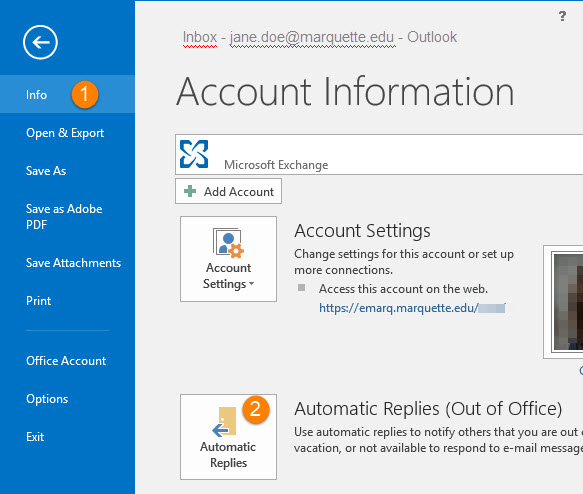 Setup out of office replies in outlook 2003 2007 2010 2013 2016 - Set up out of office in outlook ...