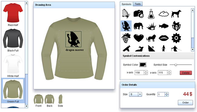 Flash T-shirt Design Software