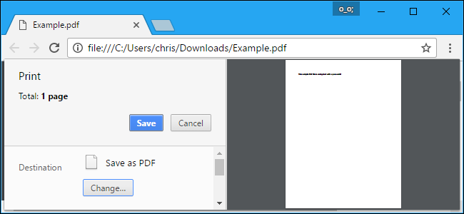 Save PDF file - Chrome