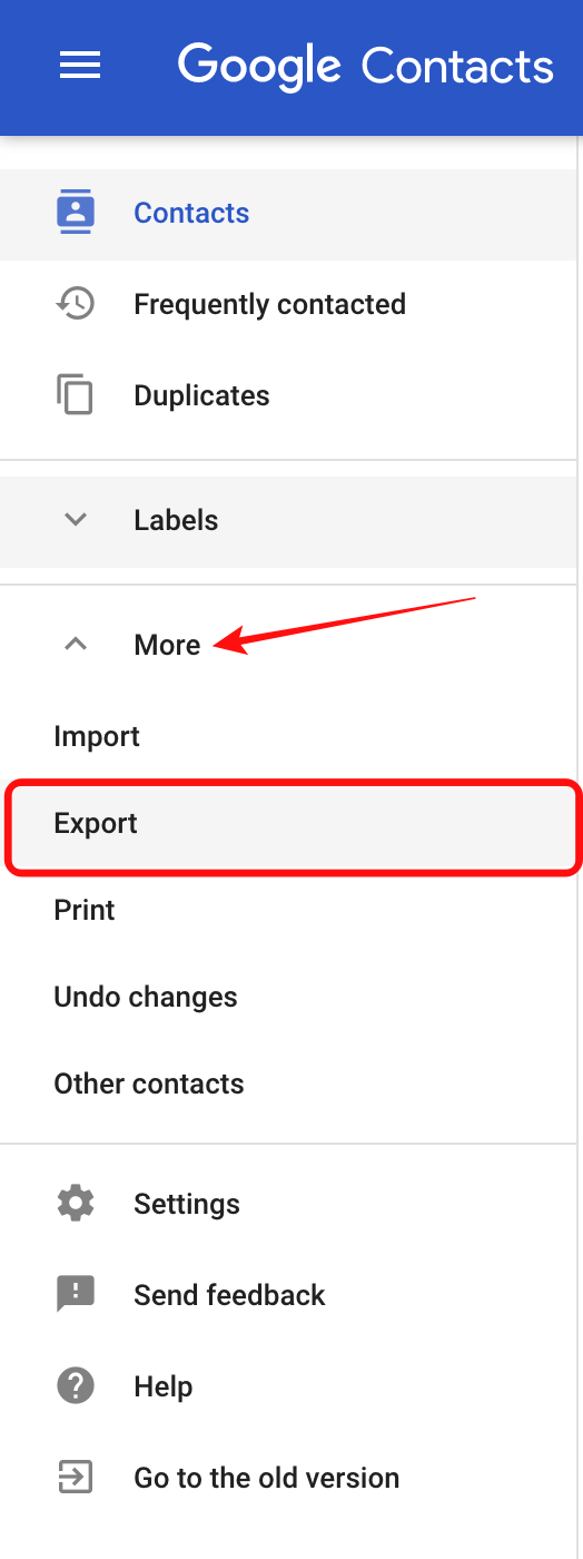 choose-export-in-contacts
