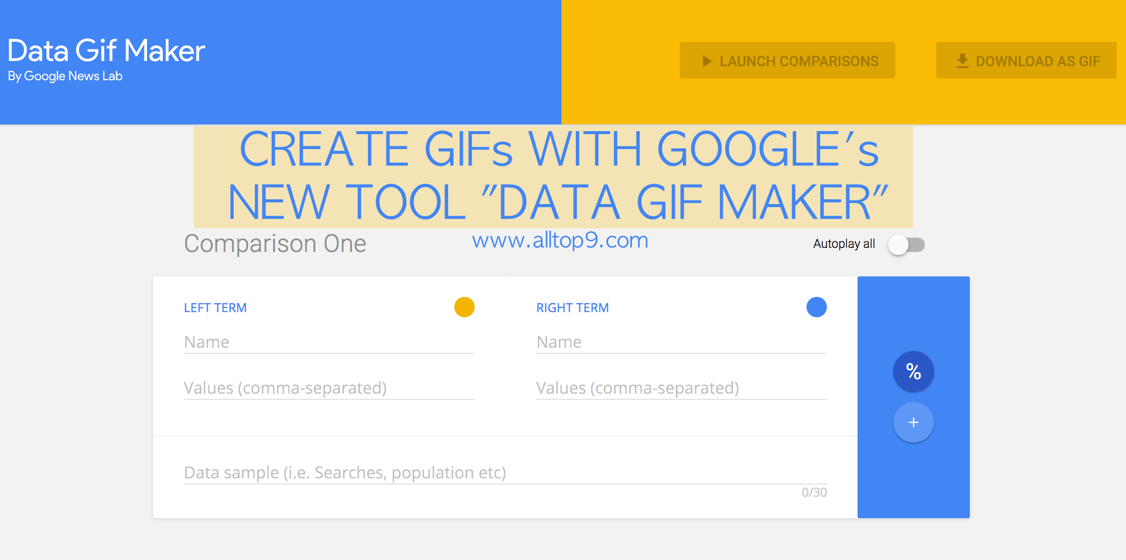 New Google Tools allows us to create Animated GIFs from Figures and Data