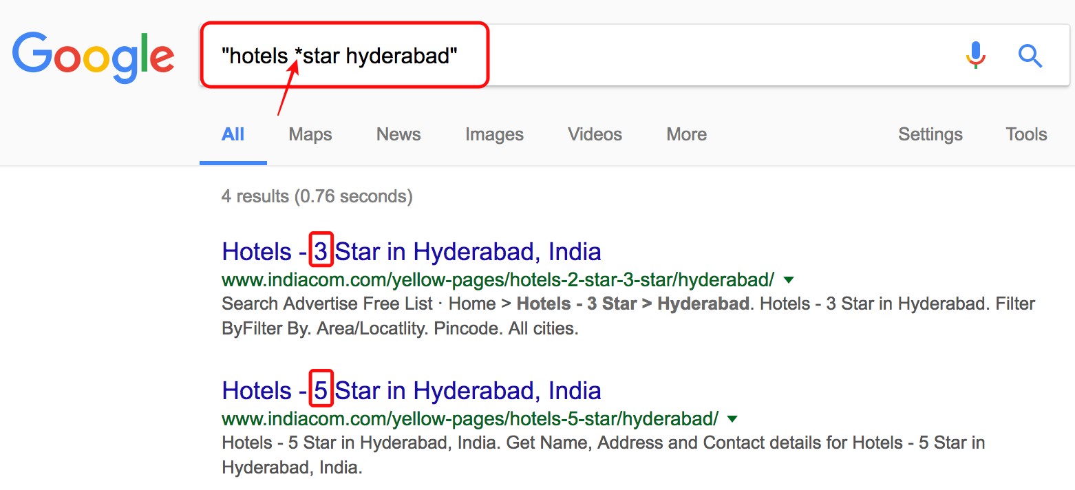 find-star-hotels-any-place-ratings
