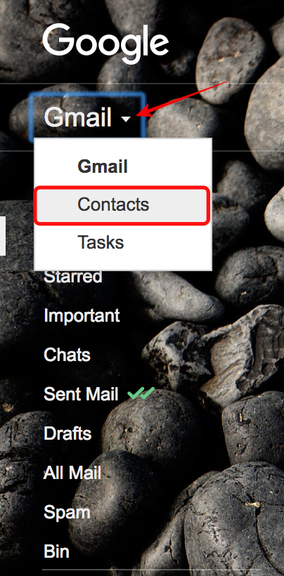 select-contacts-from-drop-down-menu