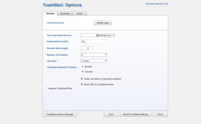 trashmail-options