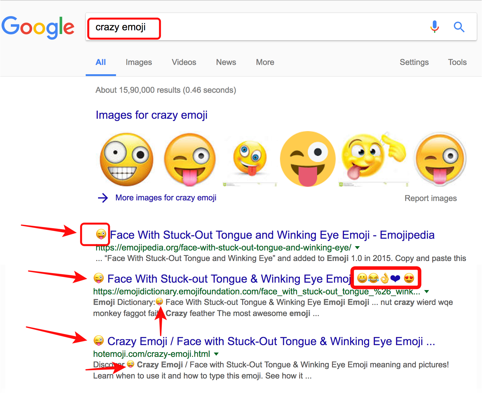 google-search-results-with-crazy-emoticon