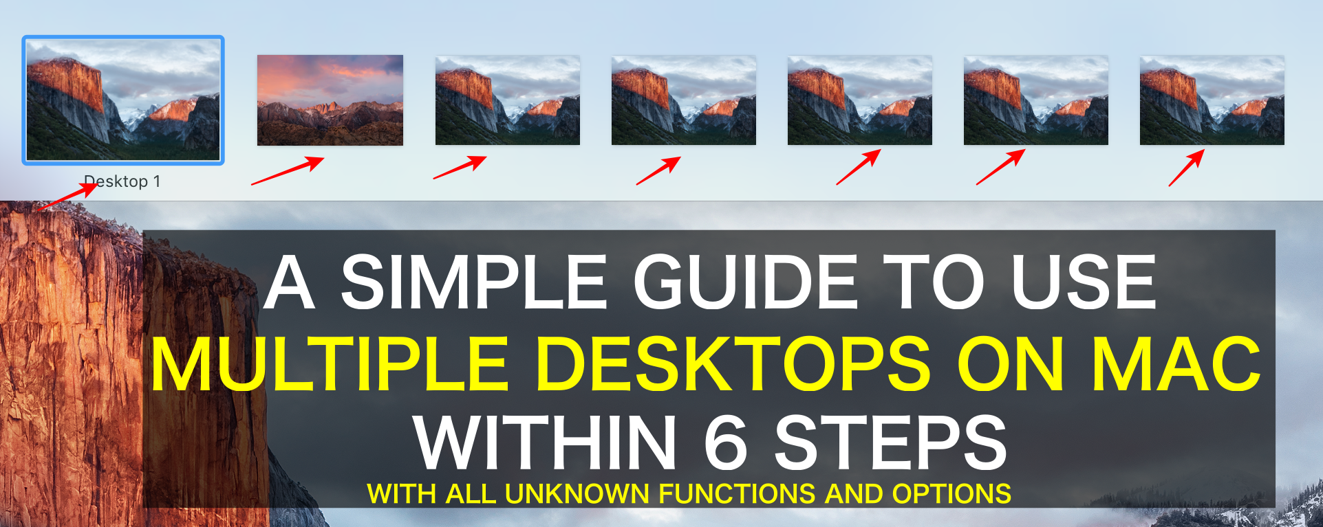 how to create multiple desktops on mac